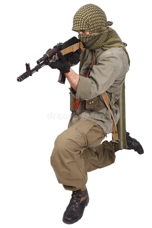 Buntownik z AK 47 zdjęcia stock