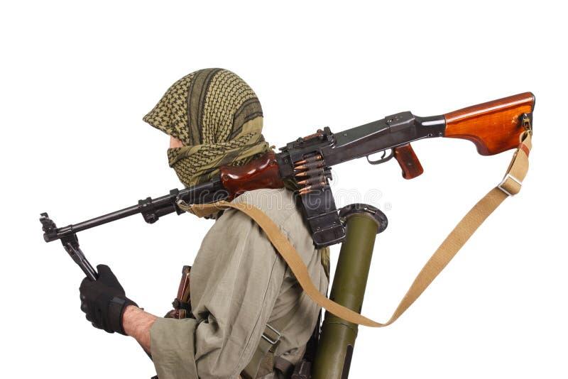 Buntownik z maszynowym pistoletem obraz royalty free