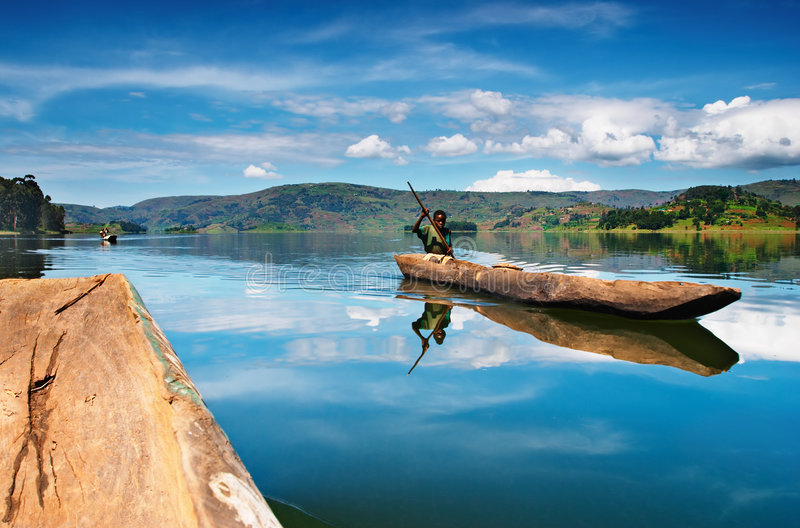 bunyonyi湖乌干达 库存照片
