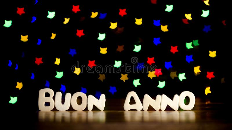 Buon anno,在意大利语新年好 免版税库存图片