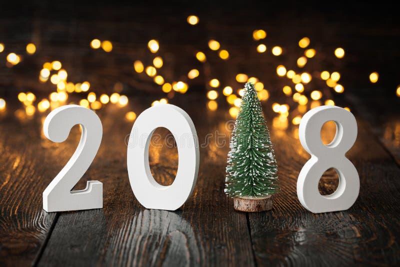 Buon anno 2018 fotografia stock libera da diritti