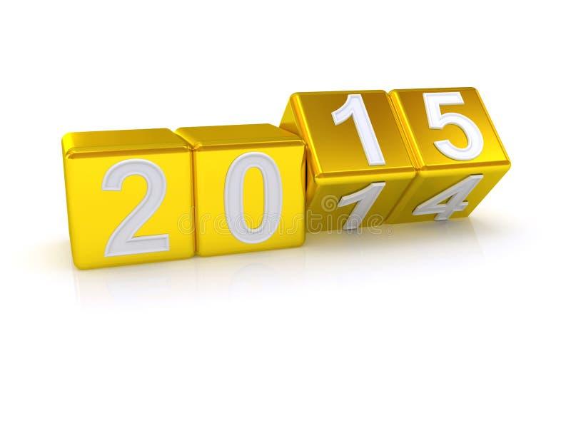 Buon anno 2015. illustrazione di stock