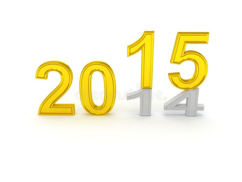 Buon anno 2015 illustrazione vettoriale