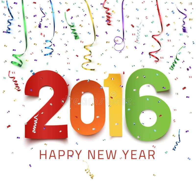 Buon anno 2016 royalty illustrazione gratis