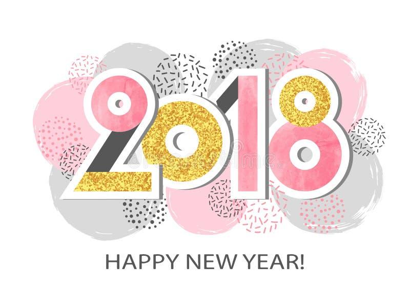 Buon anno 2018 illustrazione vettoriale