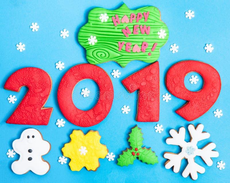Buon anno 2019, 2019 allegro felice immagini stock