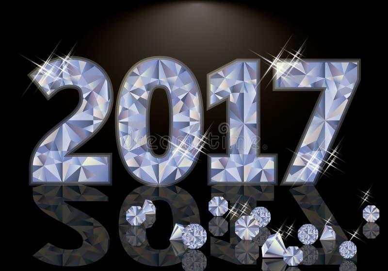 Buon anno brillante 2017, vettore royalty illustrazione gratis