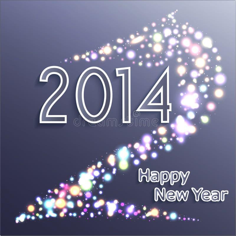 Buon anno 2014. Cavallo, fondo di celebrazione illustrazione di stock