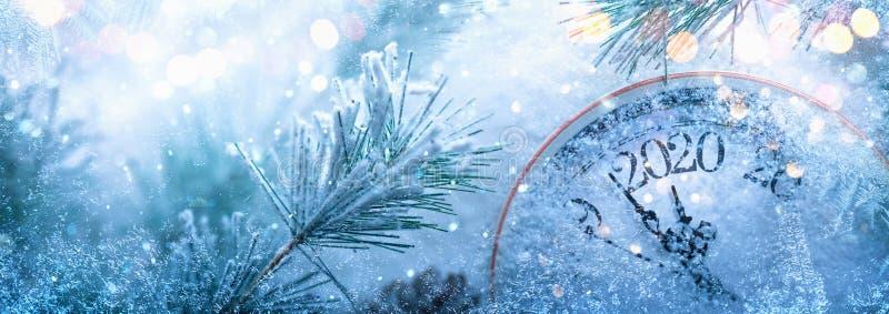Buon anno 2020 Celebrazione Invernale immagini stock libere da diritti