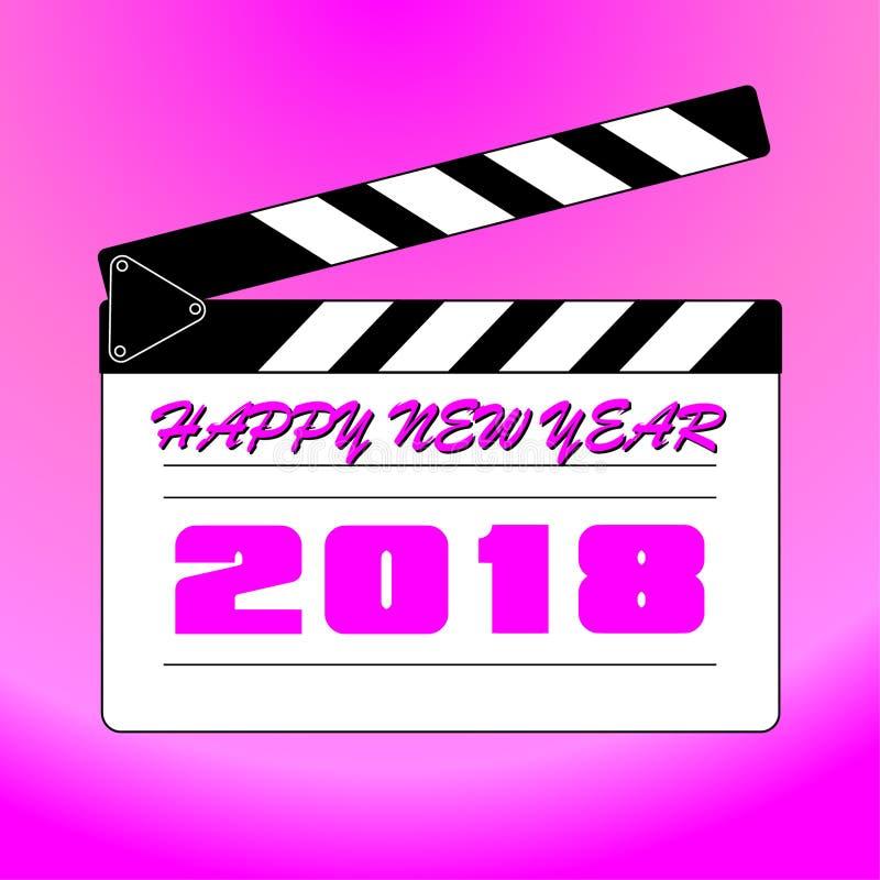 Buon anno 2018 con fondo fotografia stock