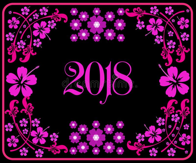 Buon anno 2018 con fondo immagine stock libera da diritti