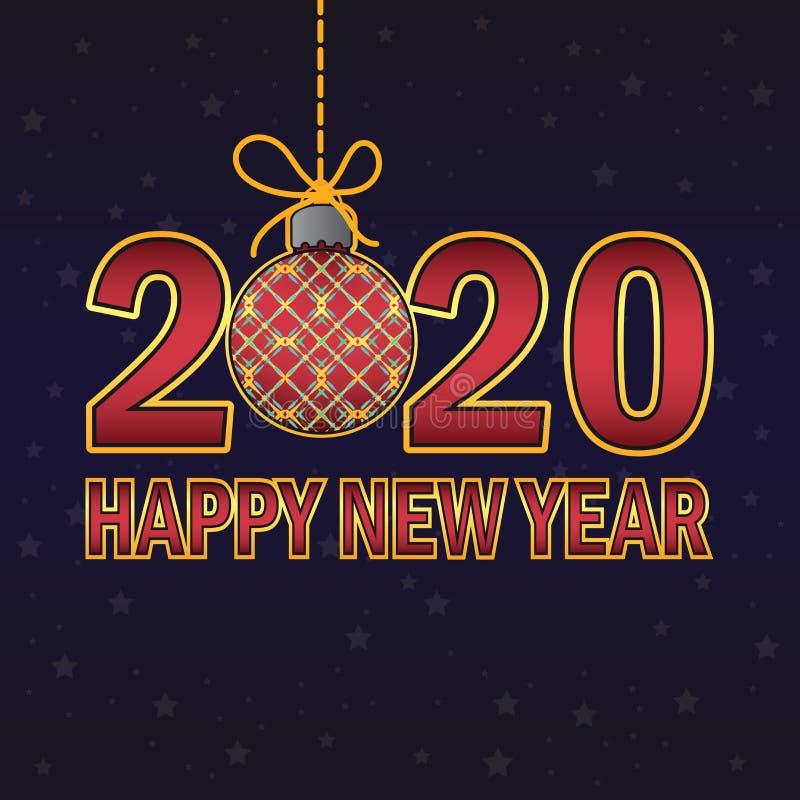 Buon anno nuovo 2020 saluto royalty illustrazione gratis