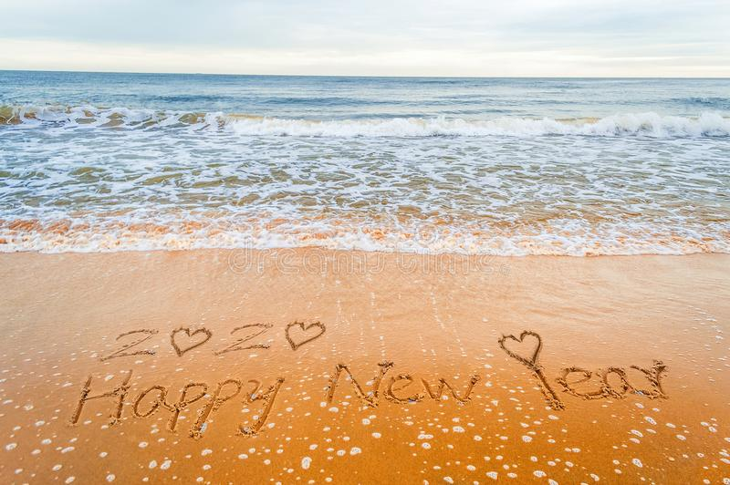 Buon anno romantico 2020 di amore fotografie stock libere da diritti