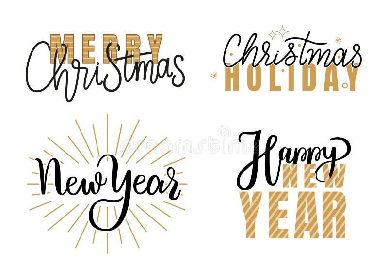 Buon anno, saluti festivi di Buon Natale royalty illustrazione gratis