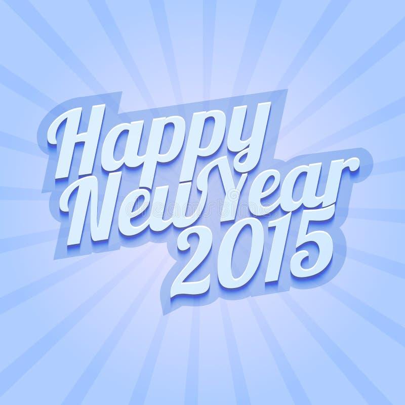 Buon anno 2015 su fondo blu royalty illustrazione gratis