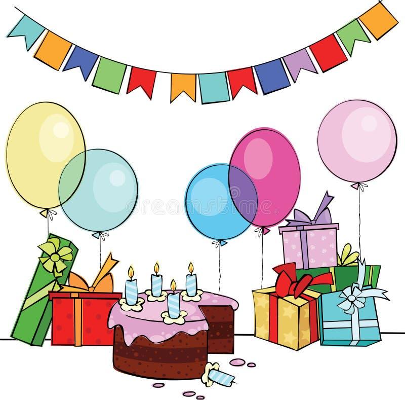 Buon compleanno illustrazione di stock
