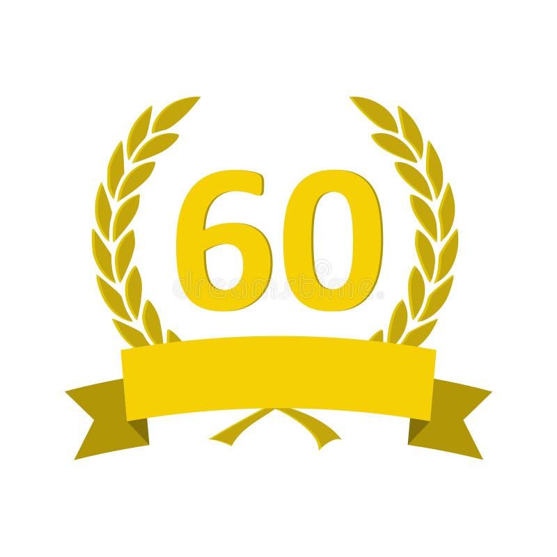 Buon Compleanno 60 Anni Di Oro Illustrazione Di Stock