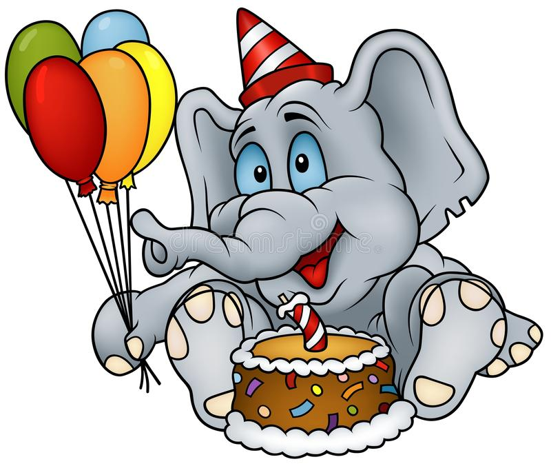 Buon compleanno dell'elefante illustrazione di stock