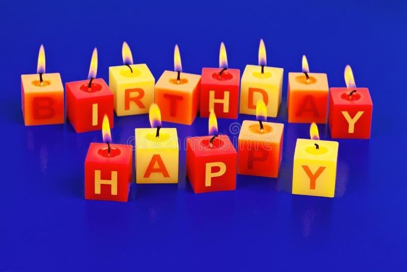 Buon compleanno di Kerzern fotografia stock