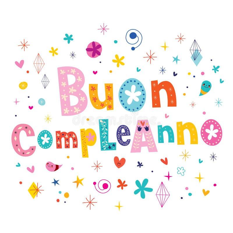 Buon Compleanno Happy Birthday In Italian Greeting Card