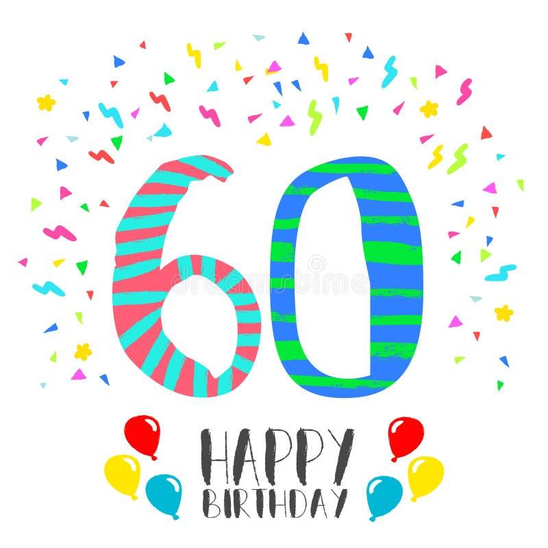 Buon Compleanno Per La Carta Dell Invito Del Partito Da 60