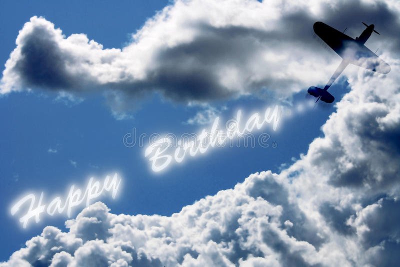 Buon compleanno sul cielo illustrazione di stock