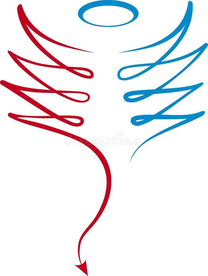 Buon-malvagità (vettore) illustrazione vettoriale