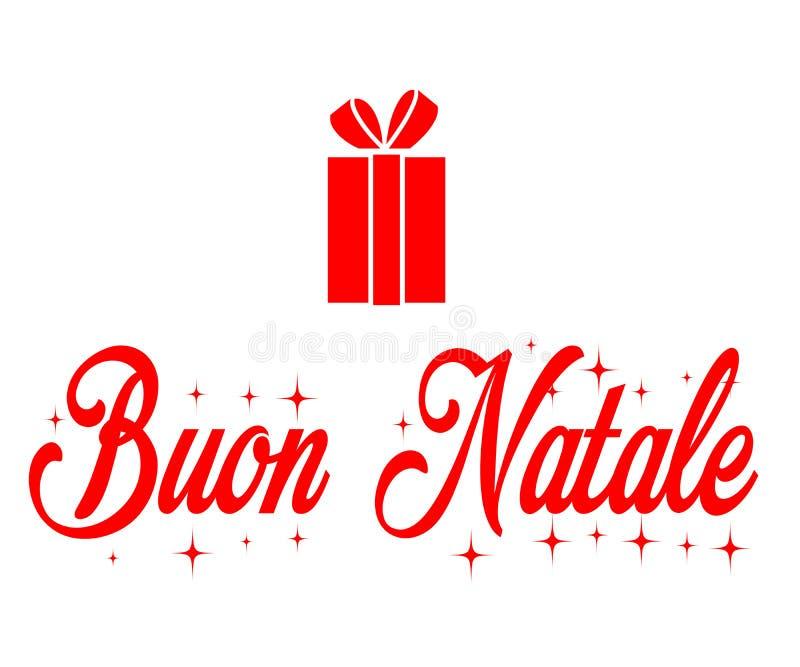 Buon Natale, веселое рождество иллюстрация вектора