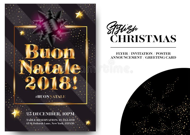 Buon Natale 2018 с Рождеством Христовым в итальянке бесплатная иллюстрация