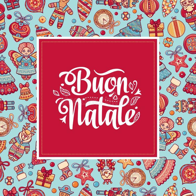 Buon Natale Шаблон рождества бесплатная иллюстрация