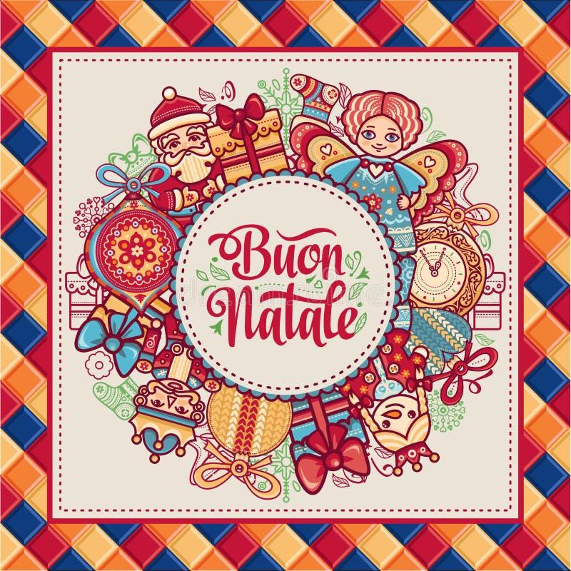 Buon Natale Шаблон рождества иллюстрация штока