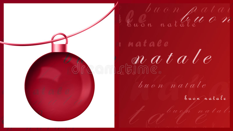 Download Buon natale stock illustration. Image of border, ornament - 1597284