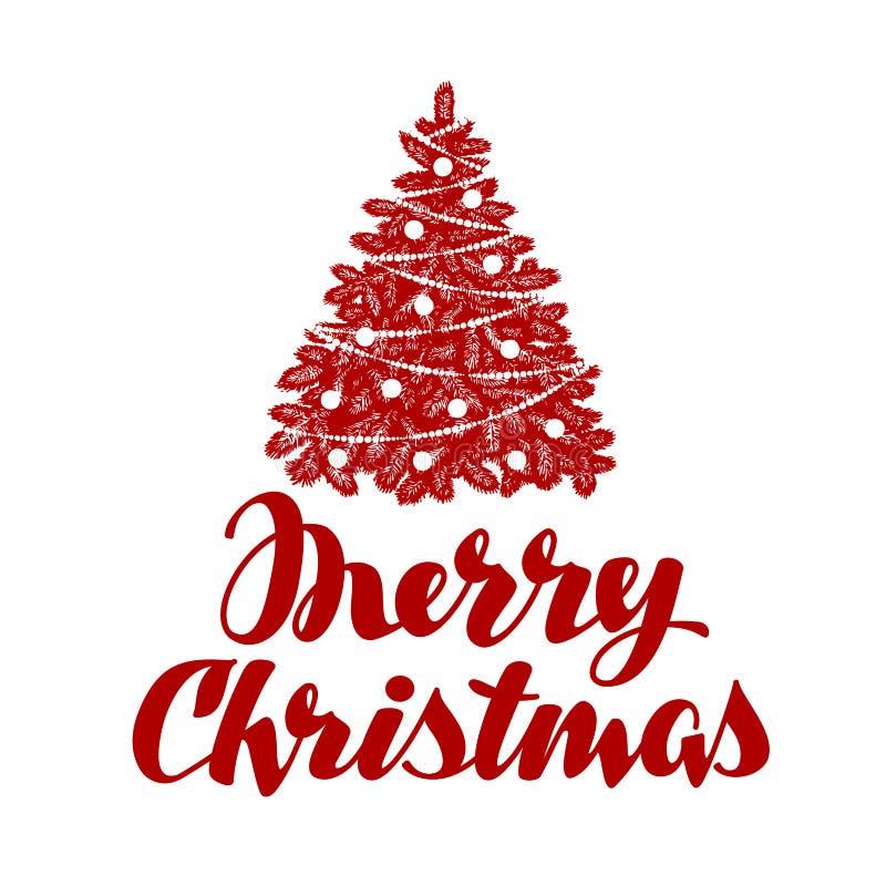 Buon Natale Albero di natale Illustrazione di vettore illustrazione di stock