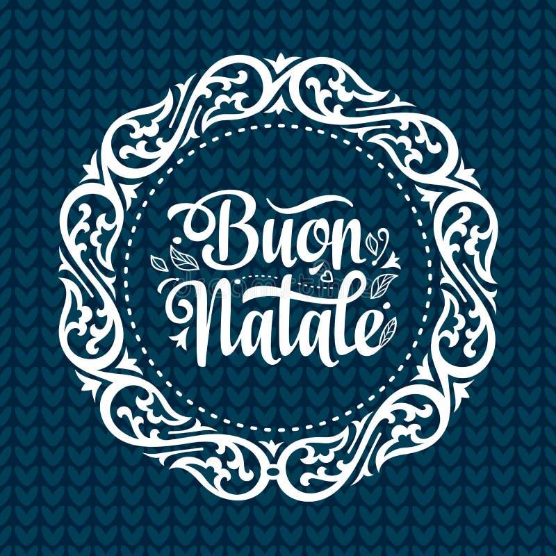 Buon Natale Bożenarodzeniowy szablon ilustracji