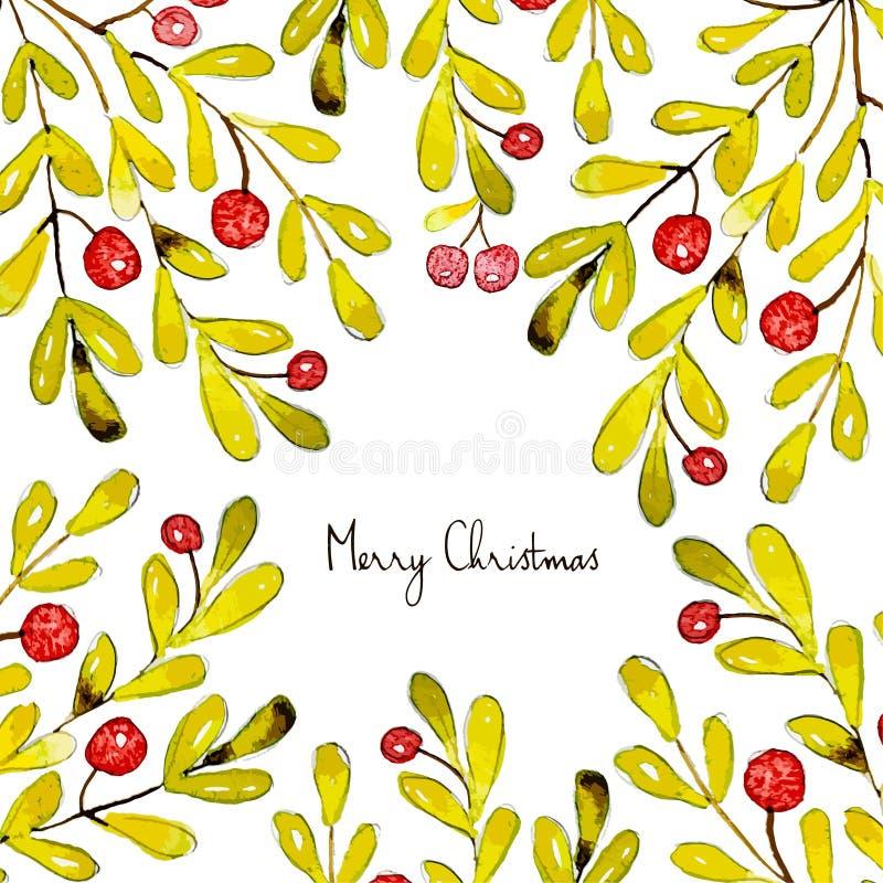 Buon Natale Carta stridente Modello della cartolina di festa illustrazione vettoriale