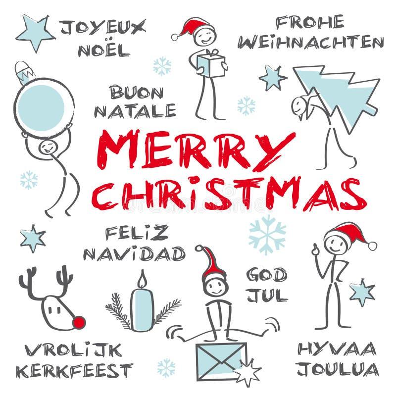 Buon Natale, cartolina d'auguri royalty illustrazione gratis