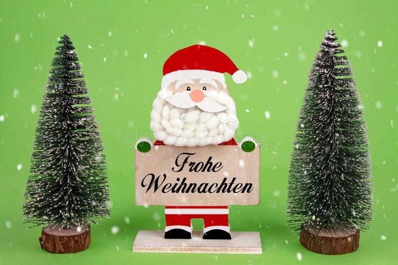 Buon Natale con neve immagine stock libera da diritti