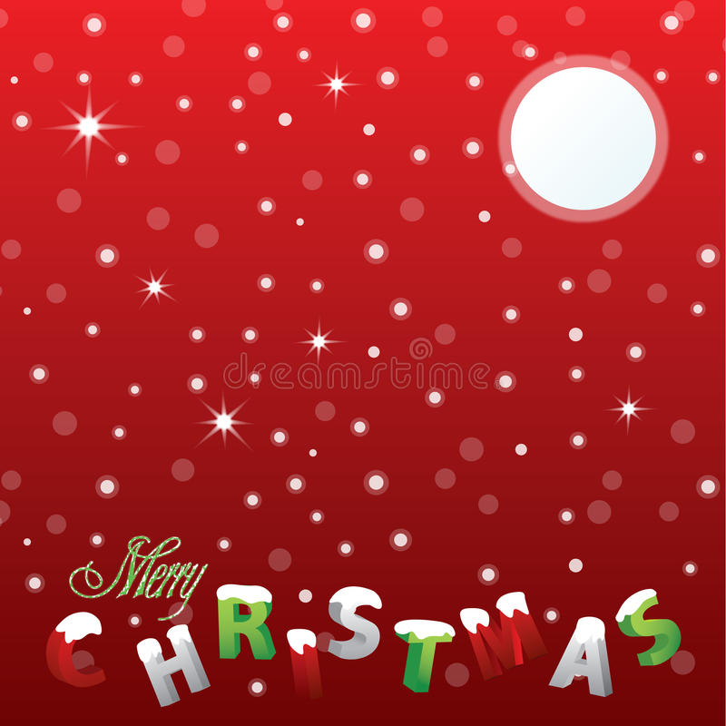 Buon Natale dello Snowy fotografie stock libere da diritti