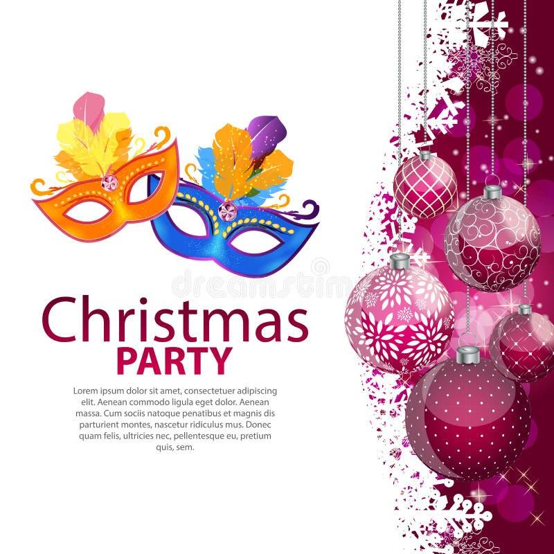 Buon Natale di bellezza e fondo astratti del partito del nuovo anno illustrazione di stock