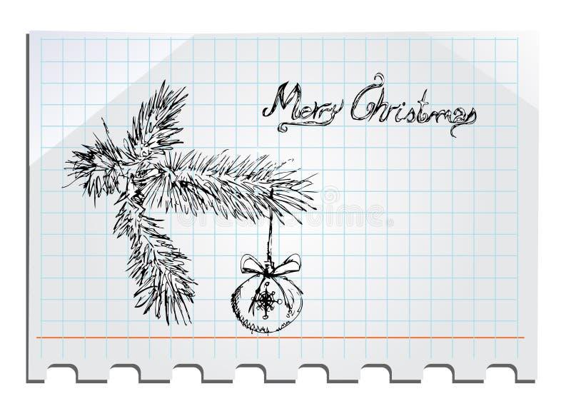 Buon Natale disegnato a mano illustrazione vettoriale