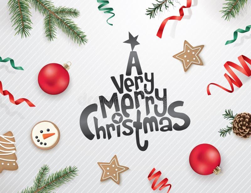 Buon Natale e buon anno! royalty illustrazione gratis