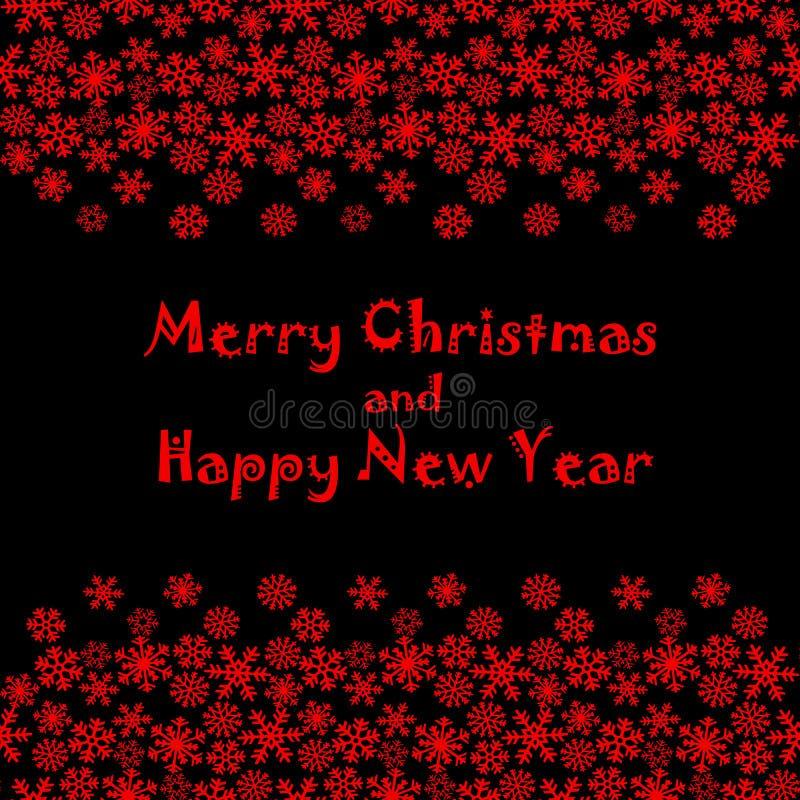 Buon Natale e buon anno Saluti di stagioni illustrazione di stock