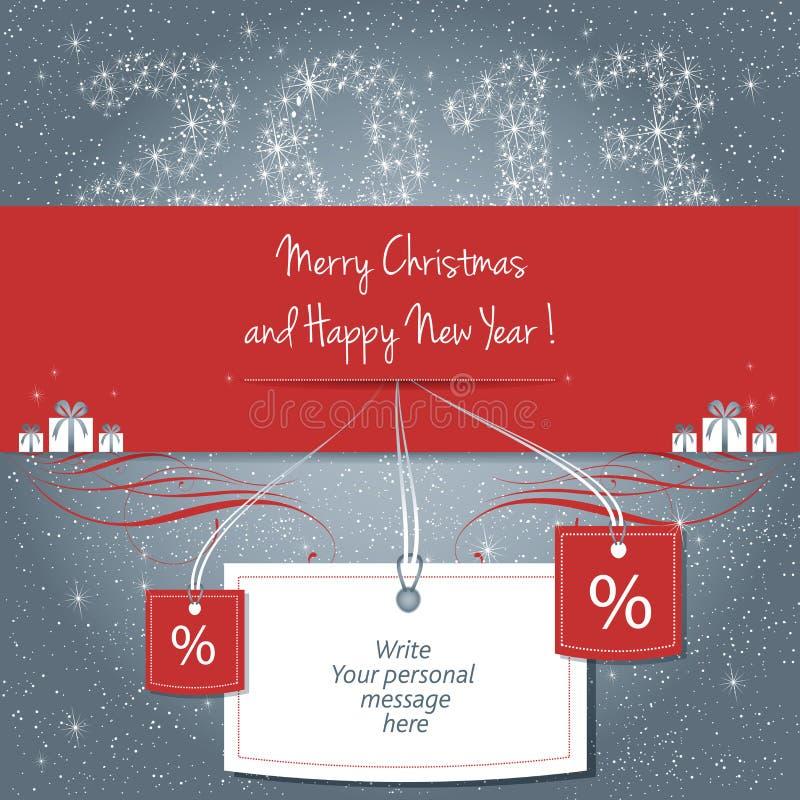 Buon Natale e buon anno! illustrazione di stock