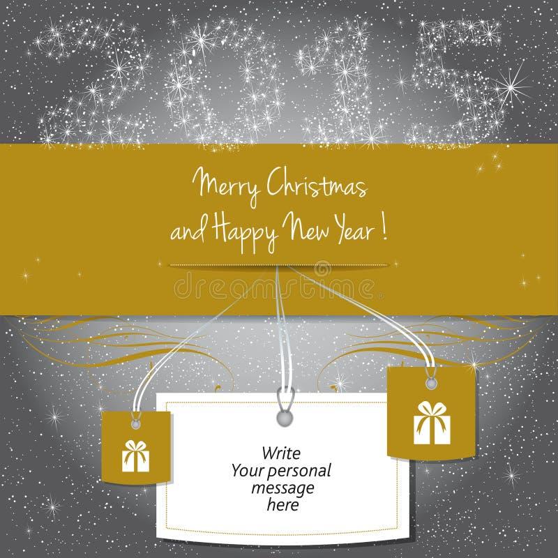Buon Natale e buon anno 2015! royalty illustrazione gratis