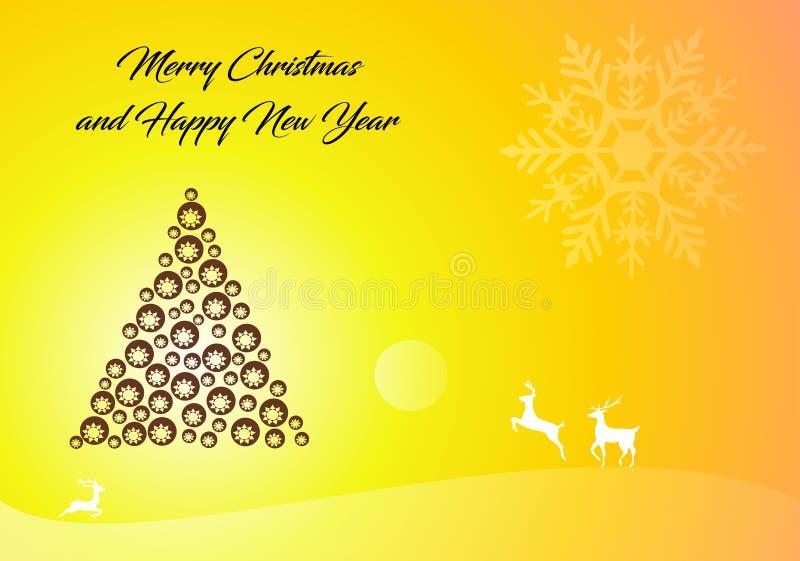 Buon Natale e carta da parati tradizionale di festa del buon anno royalty illustrazione gratis