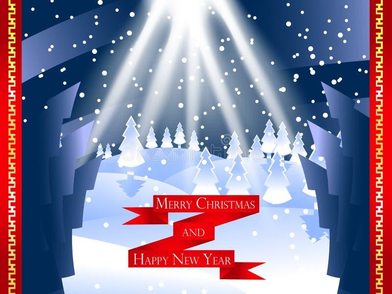Buon Natale e carta del buon anno fotografia stock libera da diritti