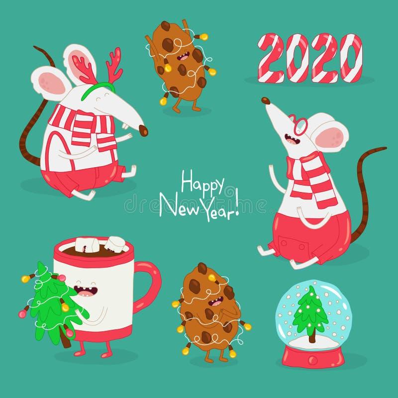 Buon Natale e felice anno nuovo Scheda grafica vettoriale fotografia stock