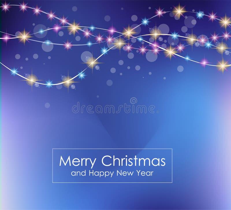 2016 Buon Natale e fondo del buon anno illustrazione di stock
