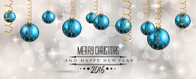 2016 Buon Natale e fondo del buon anno illustrazione vettoriale