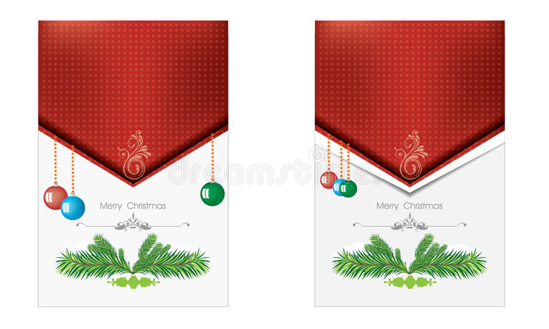 Buon Natale e fondo del nuovo anno per la vostra progettazione illustrazione vettoriale